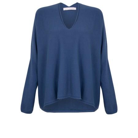 Amazing Woman  Clarrie V Neck Boxy Supersoft Fine Knit - Blue