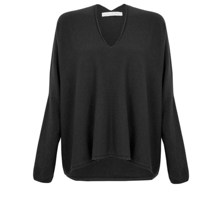 Amazing Woman Clarrie V Neck Boxy Supersoft Fine Knit - Black
