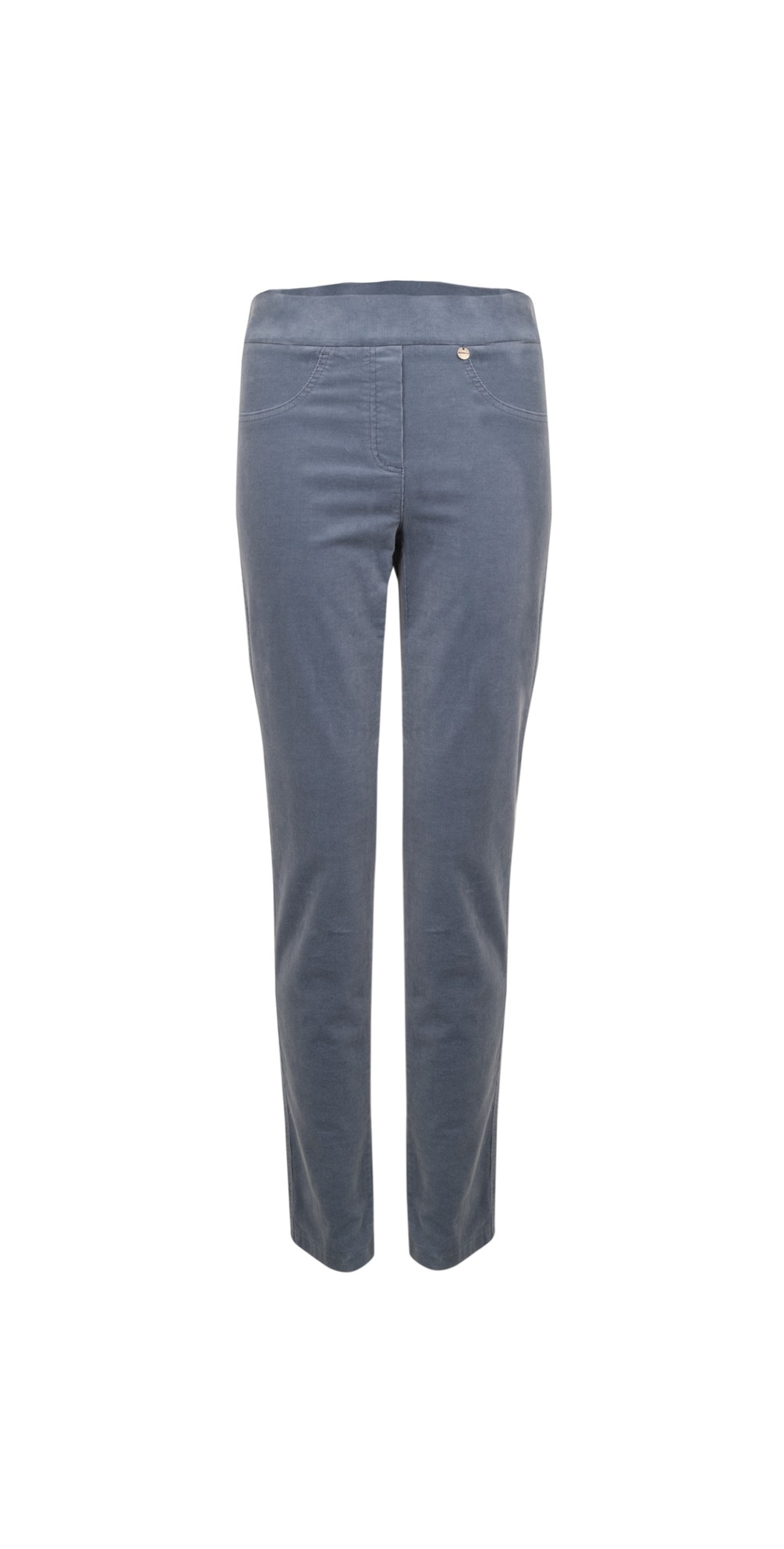 Rose Grey Blue NeedleCord Slimfit Trousers main image