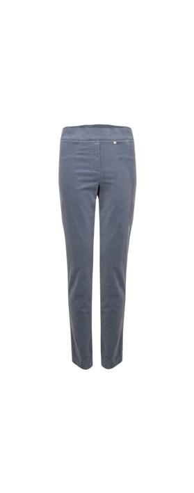 Robell Rose Grey Blue NeedleCord Slimfit Trousers Grey Blue  93
