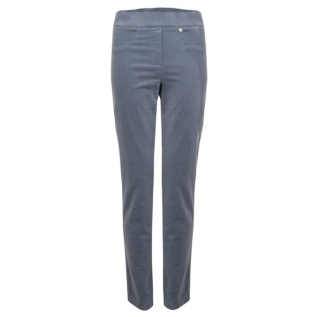 Robell Rose Grey Blue NeedleCord Slimfit Trousers - Grey