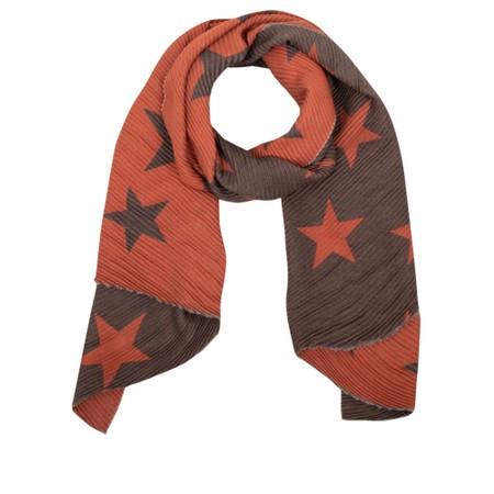 Gemini Label Accessories Revo Stars Reversible Scarf - Orange