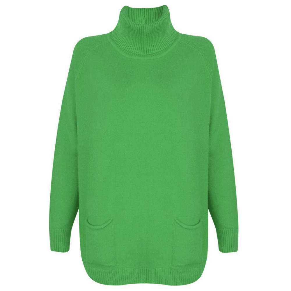 Amazing Woman Anna Two Pocket Relaxed Fit Jumper Emerald