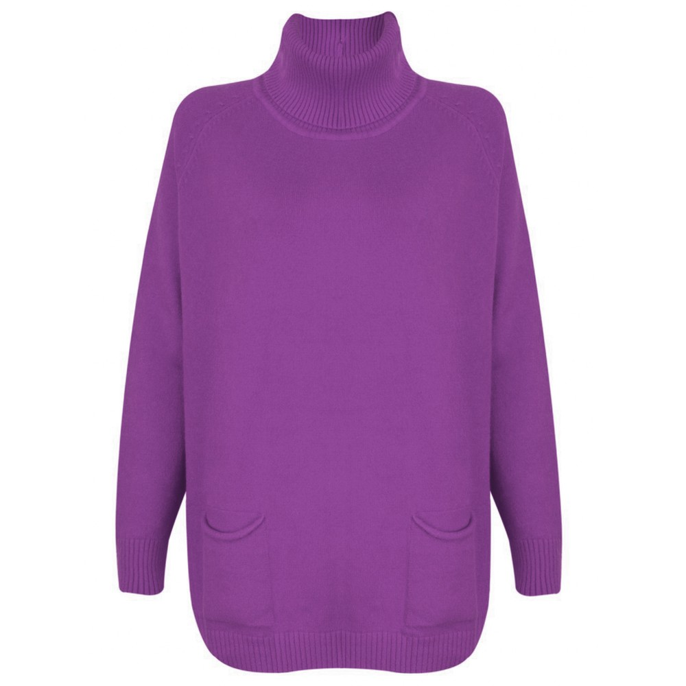Amazing Woman Anna Two Pocket Relaxed Fit Jumper Purple