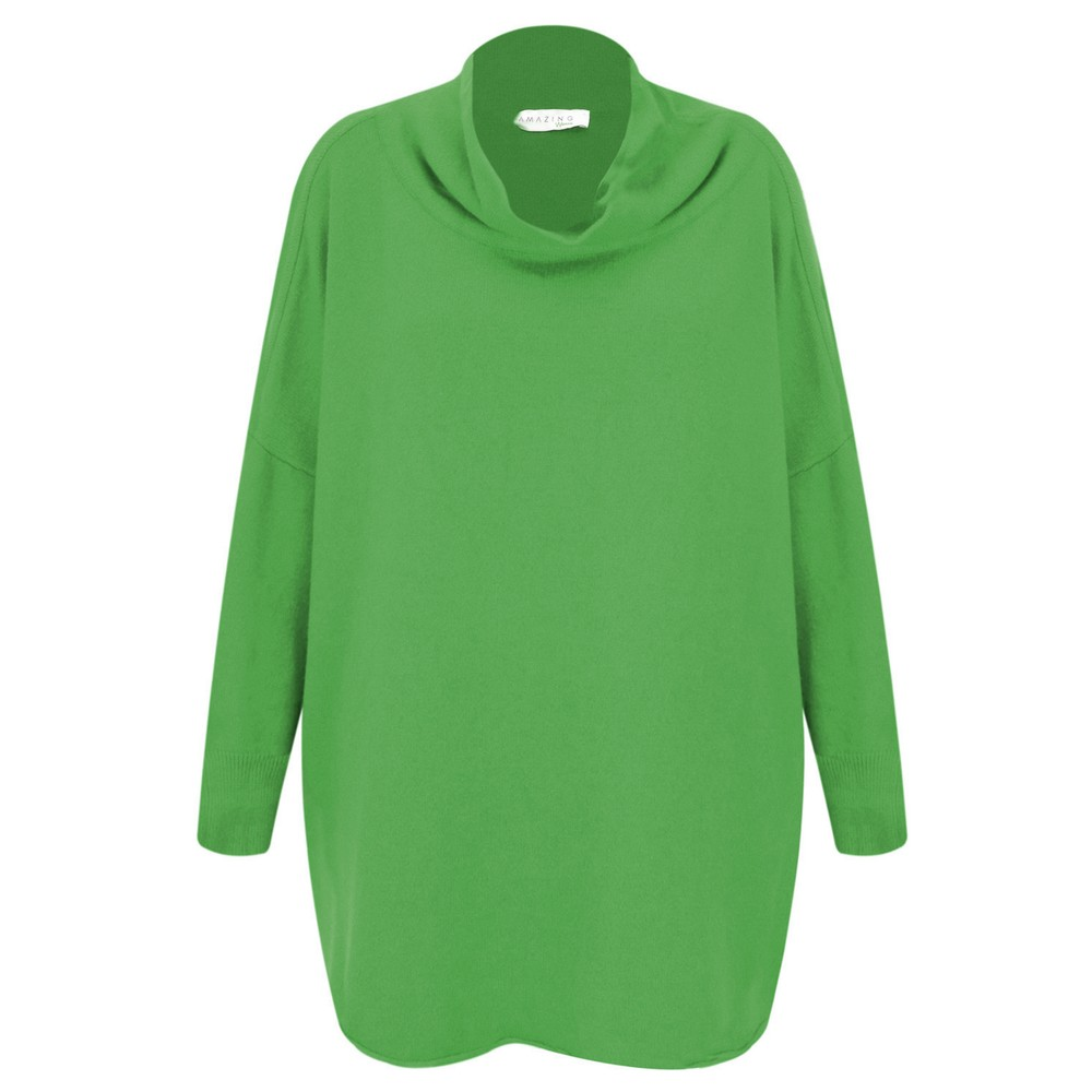 Amazing Woman Vera Oversized Knit Jumper Emerald