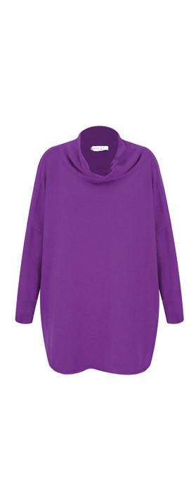 Amazing Woman Vera Oversized Knit Jumper Purple