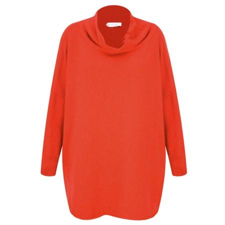 Amazing Woman  Vera Oversized Knit Jumper - Orange