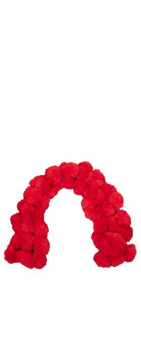 Jayley Faux Fur Pom Scarf 08 Red