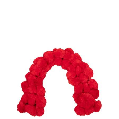 Jayley Faux Fur Pom Scarf - Red