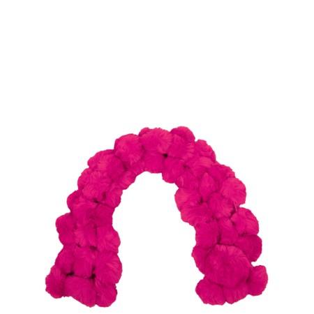 Jayley Faux Fur Pom Scarf - Pink