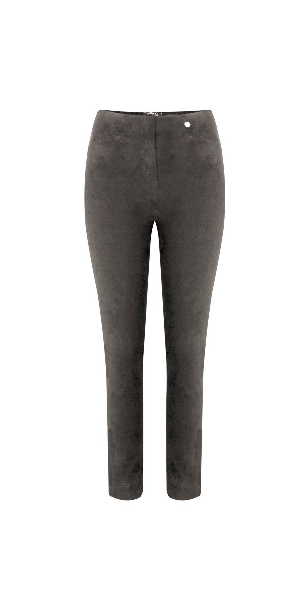 Rose Dark Taupe Stretch Faux Suede Trouser main image