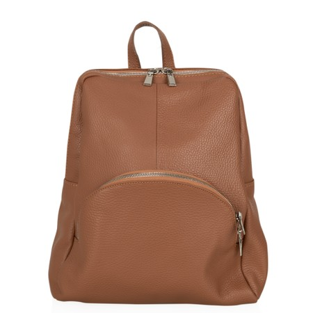 Gemini Label Bags Salerno Leather Backpack - Brown