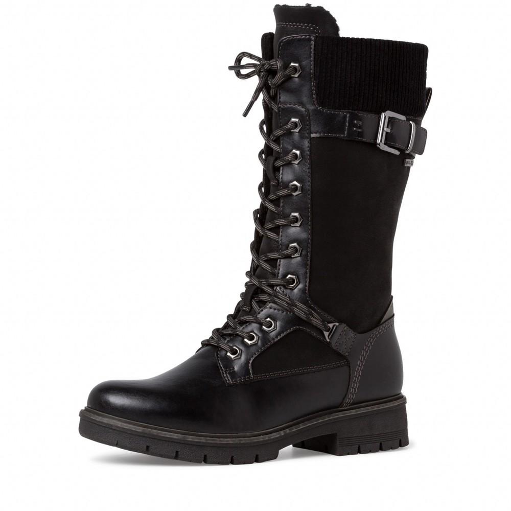 Tamaris  Vina Tall Hiker boot Black
