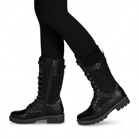 Tamaris  Vina Tall Hiker boot - Black