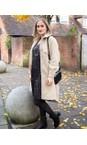 Amazing Woman Beige Lucerne Wool Textured Longline Shacket