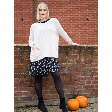 Amazing Woman  Caryf X Round Neck Oversized Jumper - Off-White