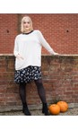 Amazing Woman Curve Ivory Caryf X Round Neck Oversized Jumper
