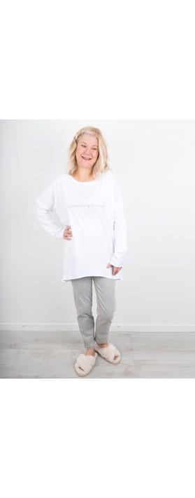 Chalk Robyn Sparkle and Shine Top White / Silver Glitter