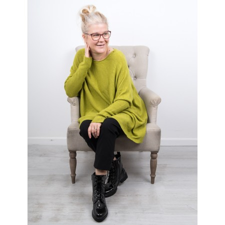 Amazing Woman  Faith Front Seam Oversized Knit - Green