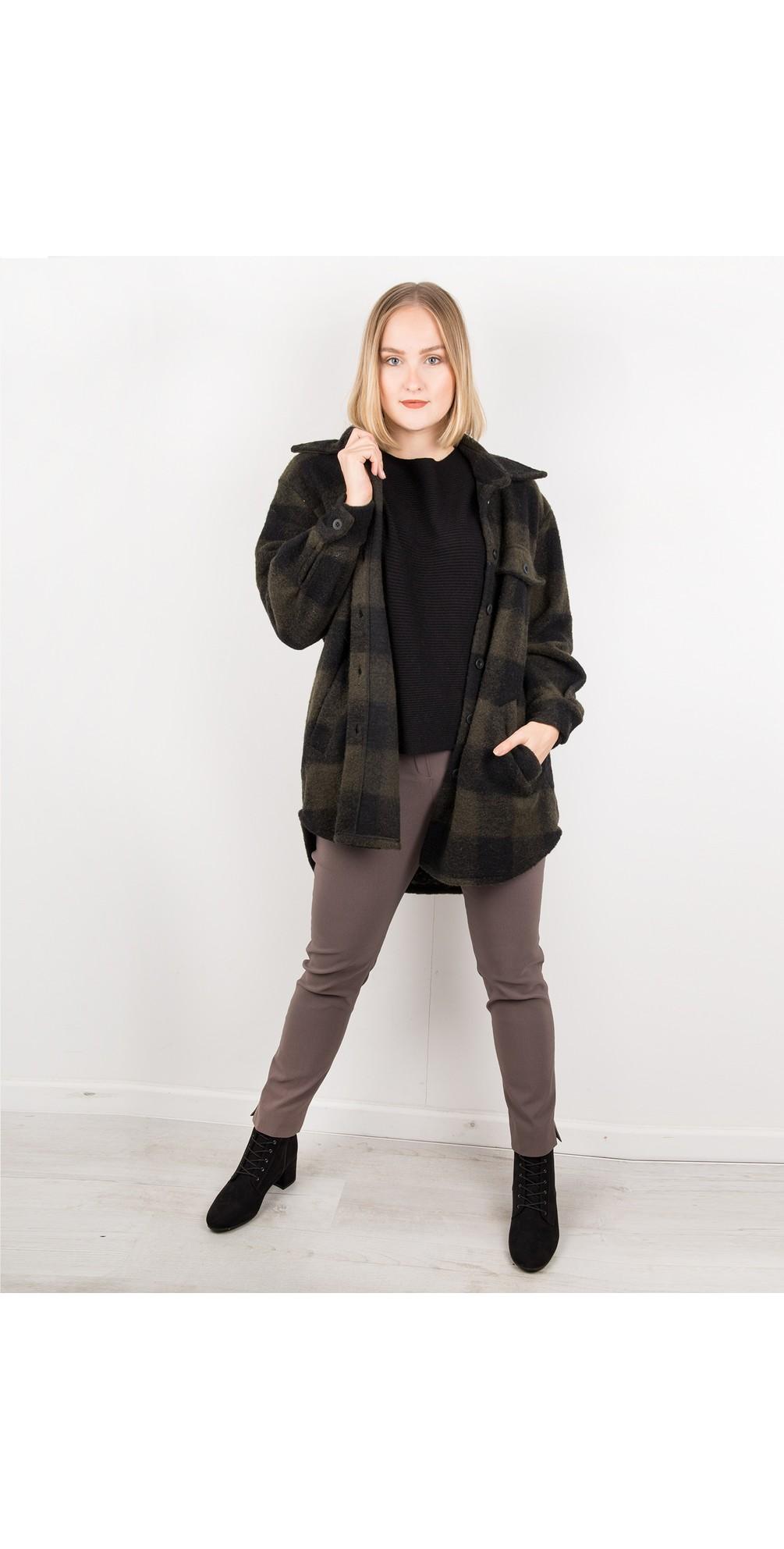 Lucerne Wool Textured Longline Shacket main image