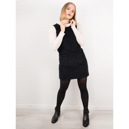 Amazing Woman  400 Cord Pinafore Dress - Black