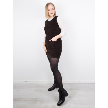 Amazing Woman  400 Cord Pinafore Dress - Brown