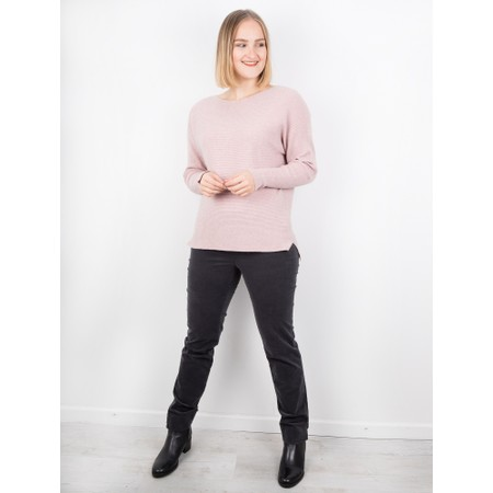 Amazing Woman  Celia Round Neck Ribbed Knit - Pink