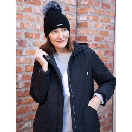 Frandsen Long Parka Coat - Black