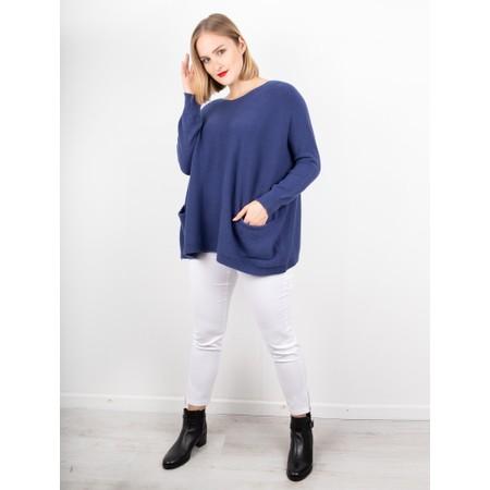 Amazing Woman Caryf X Round Neck Oversized Jumper - Blue