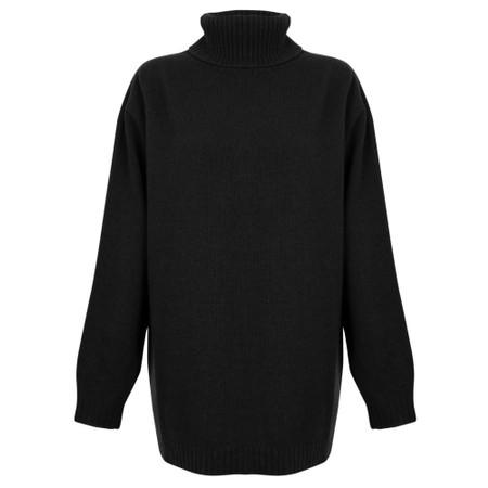 Amazing Woman  Farren Roll Neck Cashmere Mix Knit - Black
