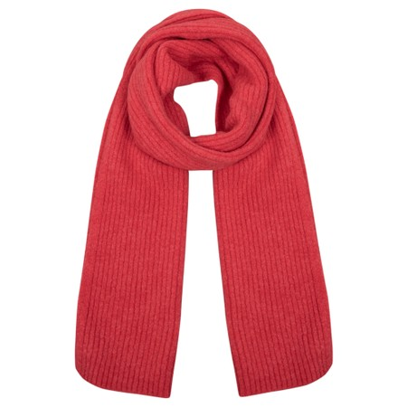 Amazing Woman  Chlobo Vertical Ribbed Scarf - Red