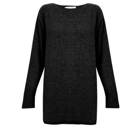 Amazing Woman  Fillipa Round Neck Cashmere Mix Knit - Black
