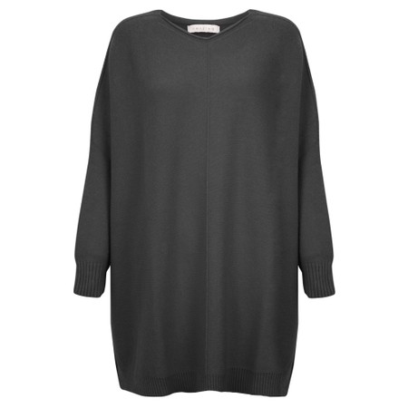 Amazing Woman Cassi X Round Neck Front Seam Knit - Black