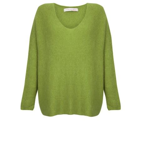 Amazing Woman  Cadee V Neck Oversized Cosy Knit - Green