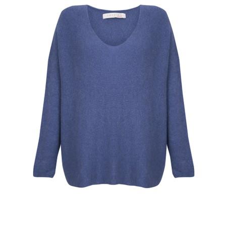 Amazing Woman  Cadee V Neck Oversized Cosy Knit - Blue