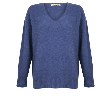 Amazing Woman  Carin V Neck Cosy Knit - Blue