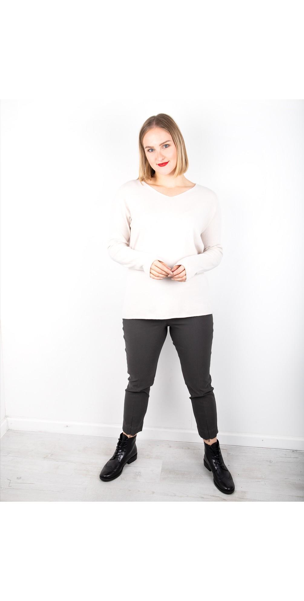 Nena 09 Slimfit Fleece Lined Ankle Length Trouser  main image