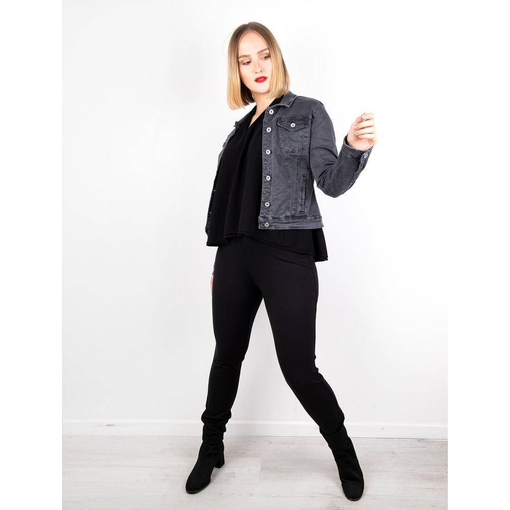 Amazing Woman Clarrie V Neck Boxy Supersoft Fine Knit Black