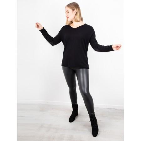 Amazing Woman  Stella Faux Leather Leggings - Black