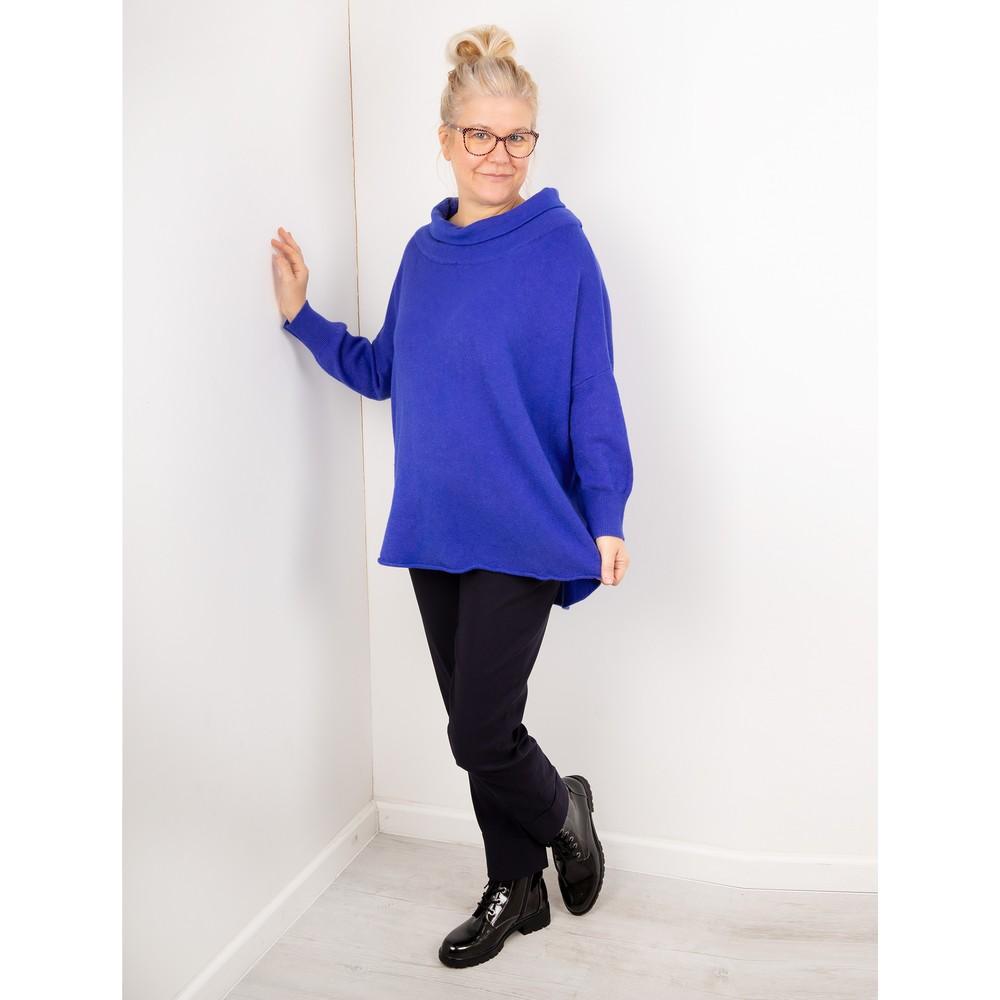Amazing Woman Vera Oversized Knit Jumper Royal Blue