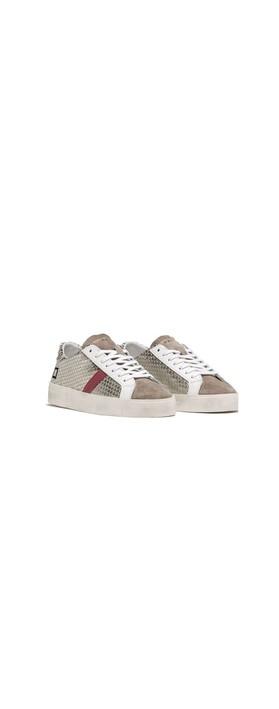 D.A.T.E Hill Low Pong Low Top Sneaker Platinum / Pink