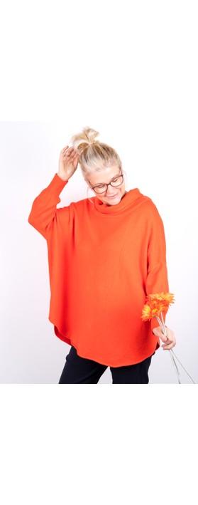 Amazing Woman Vera Oversized Knit Jumper Satsuma