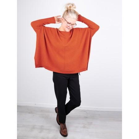 Amazing Woman  Faith Front Seam Oversized Knit - Orange