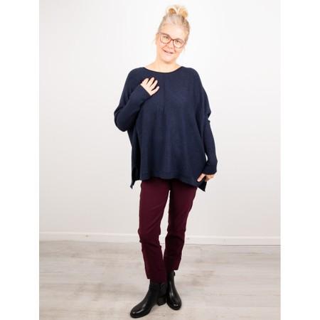 Amazing Woman  Faith Front Seam Oversized Knit - Blue