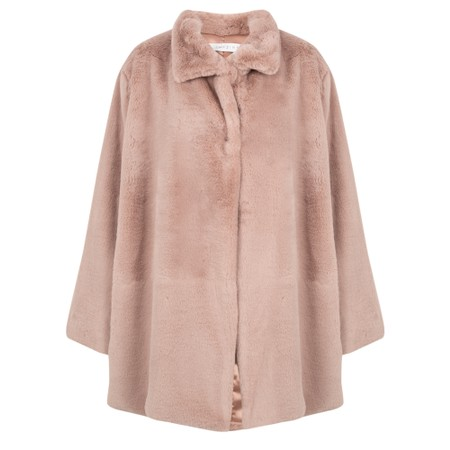 Amazing Woman  Cosy Faux Fur Jacket - Pink