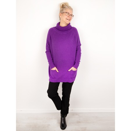 Amazing Woman  Anna Two Pocket Relaxed Fit Jumper - Brown