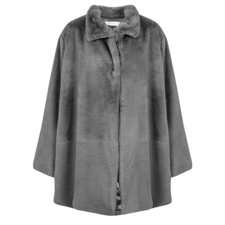 Amazing Woman  Cosy Faux Fur Jacket - Grey
