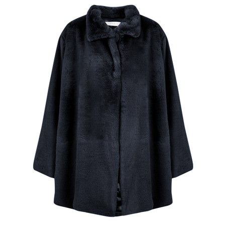 Amazing Woman  Cosy Faux Fur Jacket - Blue