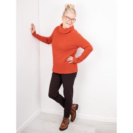 Amazing Woman  Fliss Roll Neck Raglan Sleeve Ribbed Knit - Orange