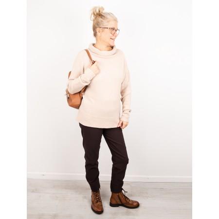 Amazing Woman  Fara Cowl Neck Contrast Rib Hem Knit Jumper - Beige